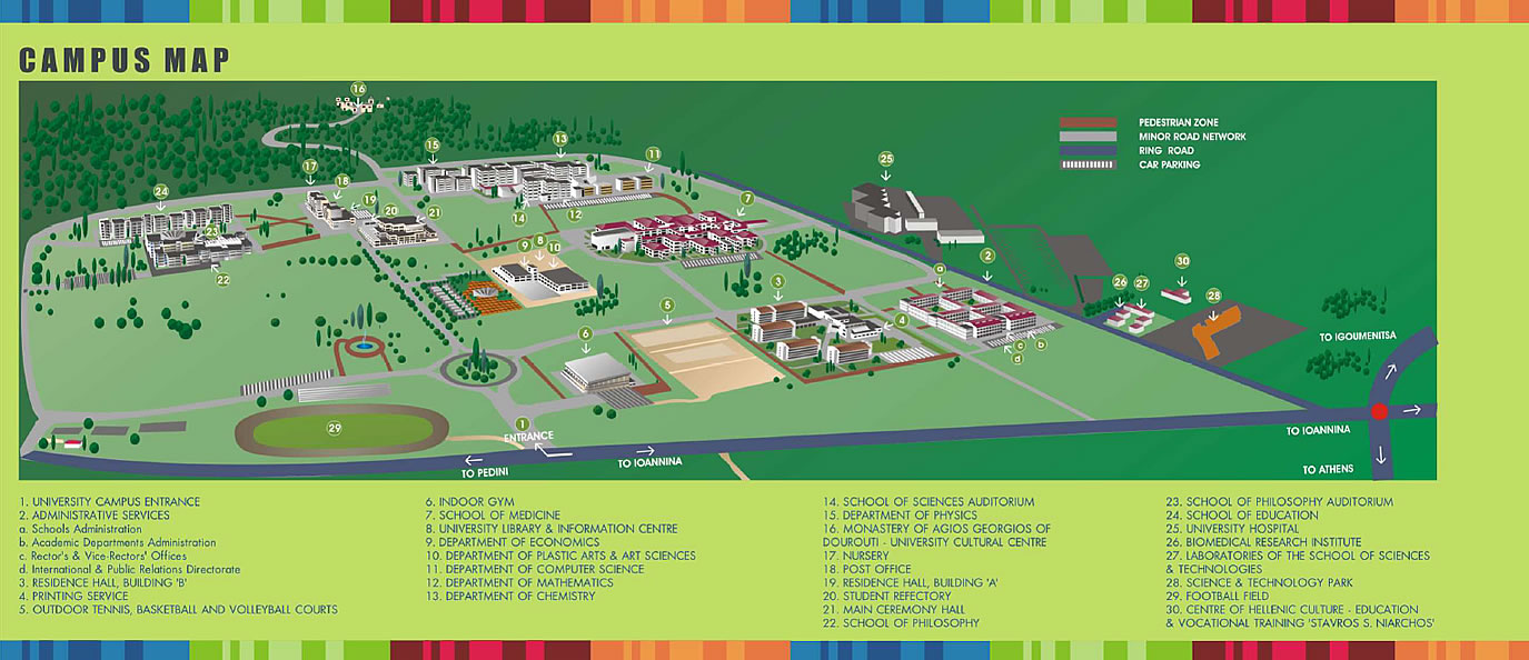 Athens Campus Map.Uoi Campus Map